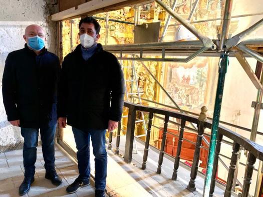 Visita a los trabajos del Órgano Histórico de Lezuza