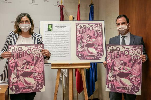 La viceconsejera de Educación, Cultura y Deportes, Ana Muñoz, presenta el cartel y el manifiesto elaborado para conmemorar el Día del Libro