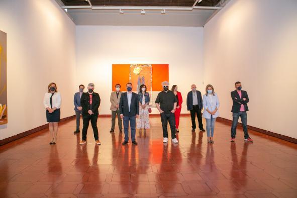 El Gobierno regional retoma la agenda de grandes exposiciones con la inauguración de la muestra 'Pintura', de los artistas Jorge Galindo y Pedro Almodóvar