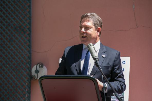 Asiste a la presentación de la programación de la 44 edición del Festival Internacional de Teatro Clásico de Almagro, en la sede de la Embajada de España en Lisboa (Portugal)