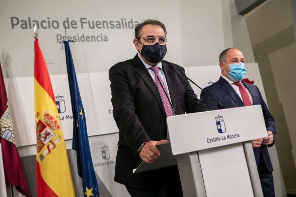 Rueda de prensa de la reunión de trabajo con el alcalde de Albacete