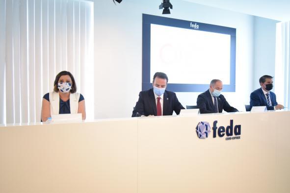 La consejera de Economía, Empresa y Empleo, Patricia Franco, y el consejero de Fomento, Nacho Hernando, inauguran la nueva sede de la Cámara de Comercio de Albacete