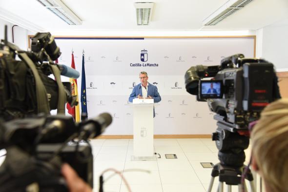 El director general de Autónomos, Trabajo y Economía Social analiza, en rueda de prensa, los datos del paro y afiliaciones a la Seguridad Social de julio