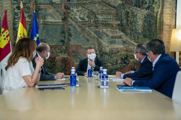 Reunión con el vicepresidente y el consejero de Hacienda para ultimar trabajos relacionados con los presupuestos para 2022