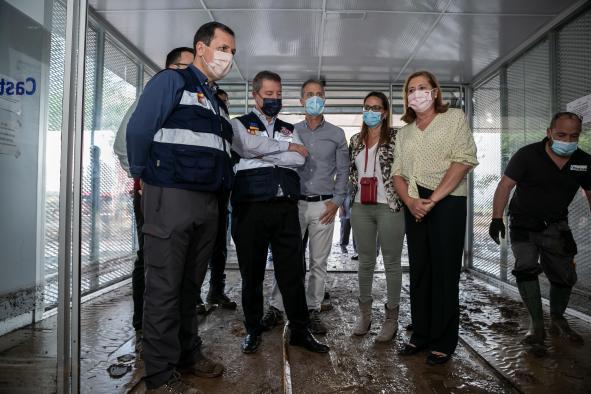 Visita a zonas afectadas por el temporal (Educación)