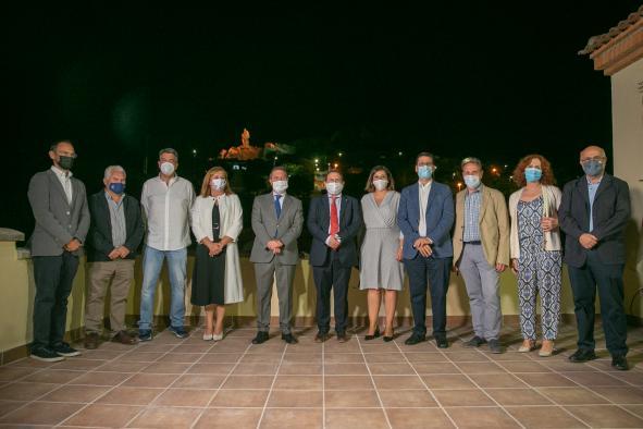 inauguración de  la nueva iluminación del monumento al Minero de Puertollano (Ciudad Real)