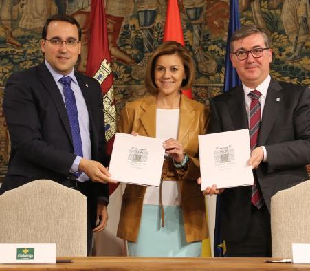 Presidenta Cospedal preside firma convenio Centenario Quijote_1