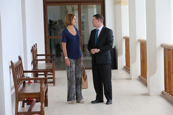 Reunión del Presidente García-Page con María Dolores de Cospedal