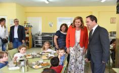 Visita al comedor escolar del CEIP 'Ángel del Alcázar' de Toledo