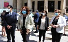 El Gobierno de Castilla-La Mancha se suma en Ciudad Real al recuerdo en homenaje a las víctimas del coronavirus