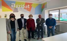 Visita institucional a AgriSat Iberia en Albacete