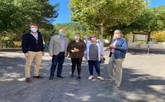 Visita futuras obras en la CM-3216 en Paterna del Madera