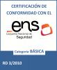 Certificado de conformidad con el ENS del Organismo Pagador